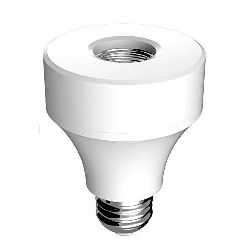 Yollhy Smart WiFi E27 / E26-Lampenfassung, WiFi-Adapter für Glühbirnen, Lampenhalter-Stecker Mit Alexa und Google Assistant Arbeiten, kein Hub erforderlich, Fernbedienung, Sprachsteuerung