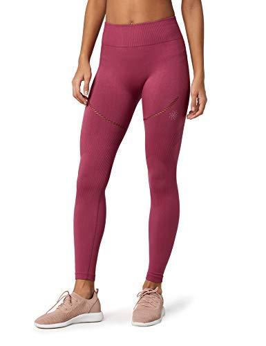 Marca Amazon - AURIQUE Mallas de Deporte sin Costuras Mujer, Rosa (Hawthorne Rose), 40, Label:M