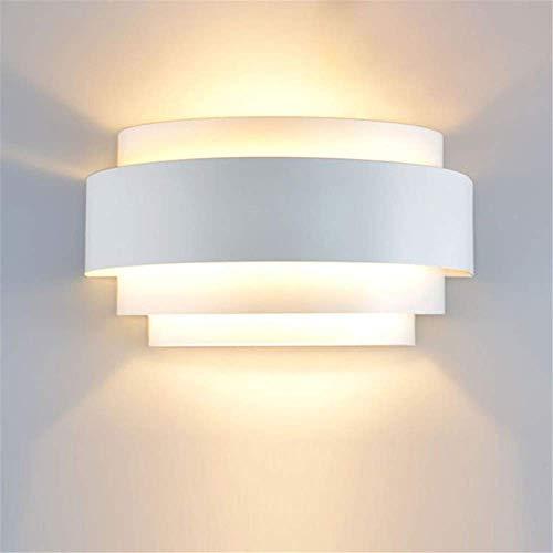 LXD Applique da Parete Modern Light Light Led Forma Ellittica Shape Applique da Parete Apparecchi per Lettini Lanciale Lavaggio a Parete E27 40W 25X13X12Cm