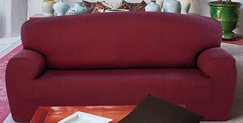 Mercato House - Funda de sofá Elastica Rustica/Medida 2 Plazas/Regalo Set 3 bayetas/60% Algodón - 35% Poliester - 5% Elastomero/Color Caldera (Caldera, 2 Plazas)