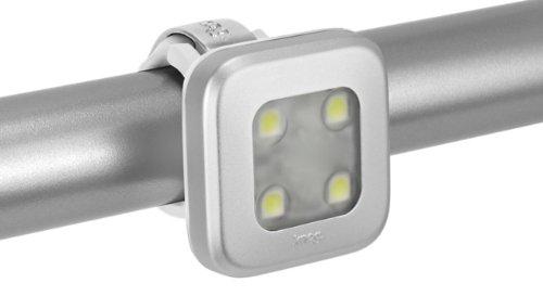 Knog Lampe Blinder 4 Square weiße LED, Silver, 11372KN