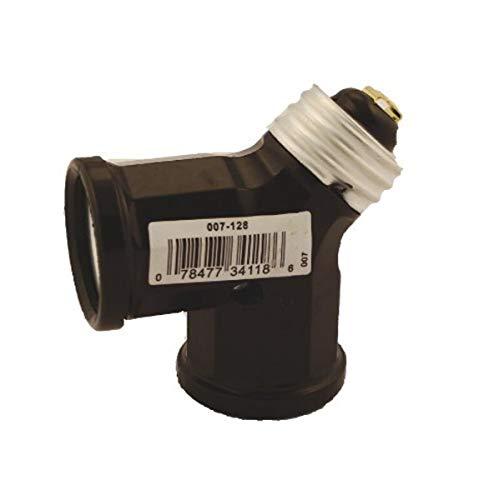 Leviton 007-00128-000 128 15 Amp, 660 Watt, 250 Volt, Twin Light Socket Adapter, Brown, 1 Pack