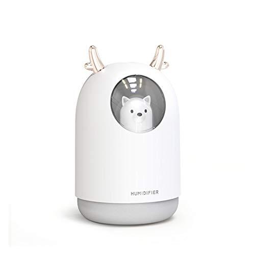 Humidificador Lindo Humidificador de Aire de Mascotas Difusor de Agua Difusor de Agua Luz de Noche Mini Fabricante de Niebla Tipo de Filtro de algodón Mute Humidificador de Coche Ambientador Casa