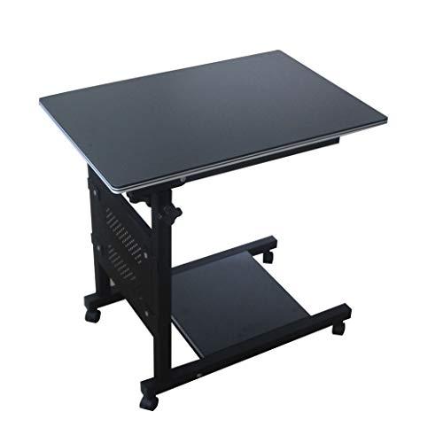 MXueei ZfgG - Mesa de noche con ruedas para ordenador portatil con bandeja ajustable para cama de hospital (color esmerilado)