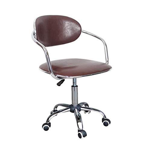 YLCJ Computer stoel eenvoudige huisstudie roterende stoel terug rotan kassa bureaustoel (kleur: F) A
