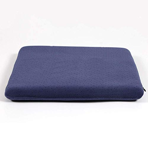 BD.Y Comfortably Memory Foam Chair Cushions, Square Removable Velour Cover Relieve Sciatica Portable Seat Cushion For Car Seat Office Chair 2-pack-blue 40x40x5cm
