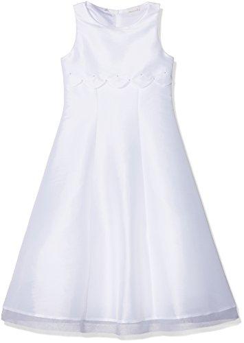 BianCorella Mädchen Kommunionkleid Slim fit Kleid, Weiß (Weiß 001), 128