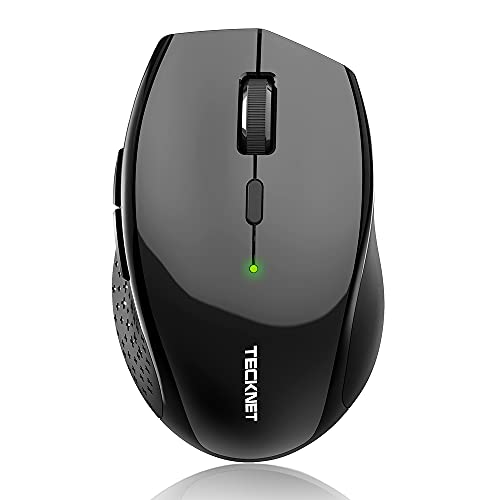 Bluetooth Wireless Mouse, TECKNET 5 Adjustable DPI Levels, 24-Month Battery Life, 6 Buttons Compatible for Ipad/ Laptop/Surface Pro/Windows Computer/Chromebook-Black