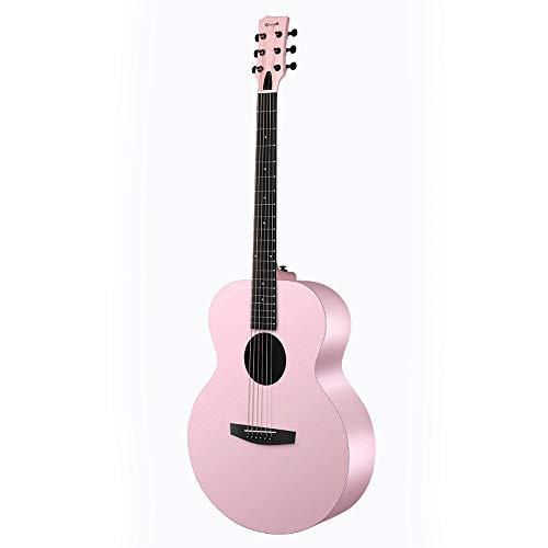 Boll-ATur Macaron Conjunto de estilos W/caja del kit Cutaway 36 pulgadas de color de rosa de la guitarra acústica acústico hecho a mano, Correa, digital S-Tuner, Pick, Pitch Pipe, Cuerdas - for prin
