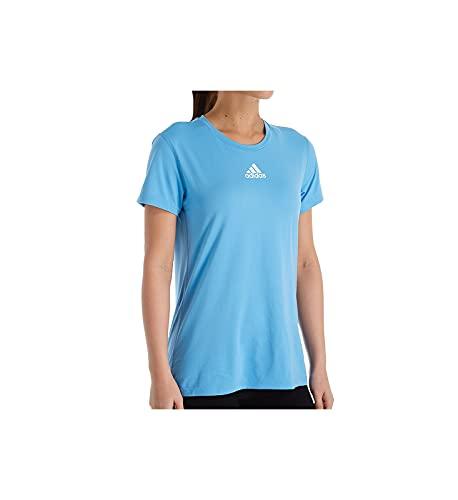 adidas Creator Climalite Camiseta de manga corta con cuello redondo para mujer 12H5, M, Azul claro