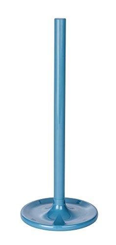 Wenko Toilettenpapier-Ersatzrollenhalter Cocktail Petrol, Polystyrol, 14 x 14 x 35 cm