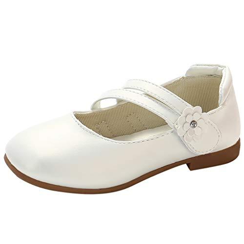 YWLINK Zapatos para NiñOs,NiñAs De Los NiñOs Flores Dulces Zapatos PequeñOs Zapatos De Princesa Zapatos Solos Zapatos Frescos Zapatos De Princesa Zapatos De Baile(Blanco,32EU)