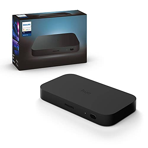 Philips Hue Play HDMI Sync Box, HDMI 4K Splitter, 4 HDMI in 1 Out, Philips Hue Smart Hub and Philips Hue Colored Smart Lights Required