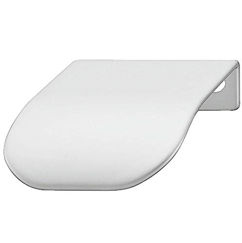 Gedotec kastgreep voor vitrine randgreep voor kledingkast meubel-handgreep voor dressoir - H1839 | 44 x 46 x BA 32 mm | staal verchroomd mat | 1 stuk
