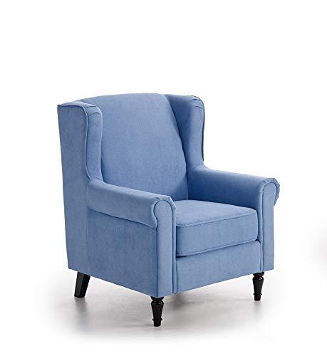 ConfortChoice Poltrona di Design Caracas per Sala da Pranzo, Soggiorno (Blu)