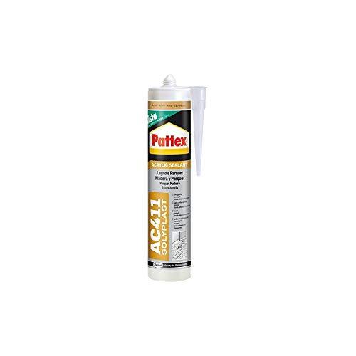 Pattex 1611915 - AC411 Silicone acrylique pour bois et parquet - Noyer