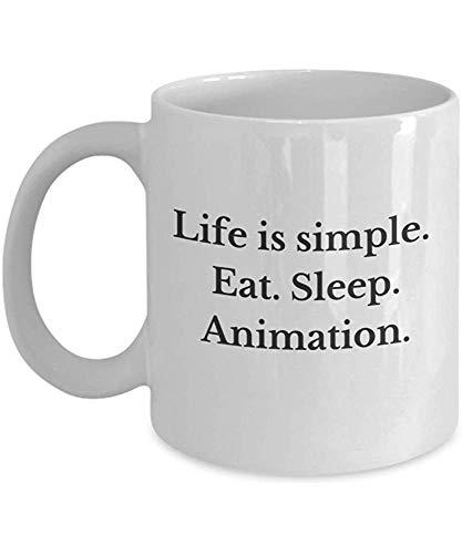 Kaffeebecher Motion Designer Geschenke Das Leben Ist Einfach Eat Sleep Animation Lustige Neuheit Geschenk Für Motion Graphics Lover After Effects Benutzer Keramiktasse Kaffeetasse Porzellantasse