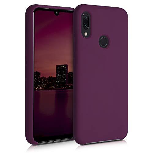 kwmobile Funda Compatible con Xiaomi Redmi Note 7 / Note 7 Pro - Funda Carcasa de TPU para móvil - Cover Trasero en Violeta Burdeos