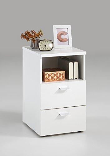 FMD furniture 652-001E, nachtkastje in uitvoering wit, afmetingen ca. 35 x 61,5 x 40 cm (BHT), spaanplaat met melaminehars.