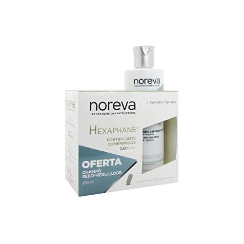 Noreva Pack Hexaphane Anreicherungstabletten 2x60comp + Sebo-regulierendes Shampoo 250ml
