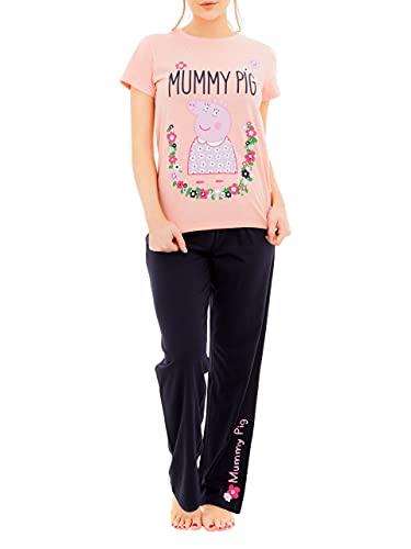 Peppa Pig Pijama para Mujer Mummy Pig Rosa Small