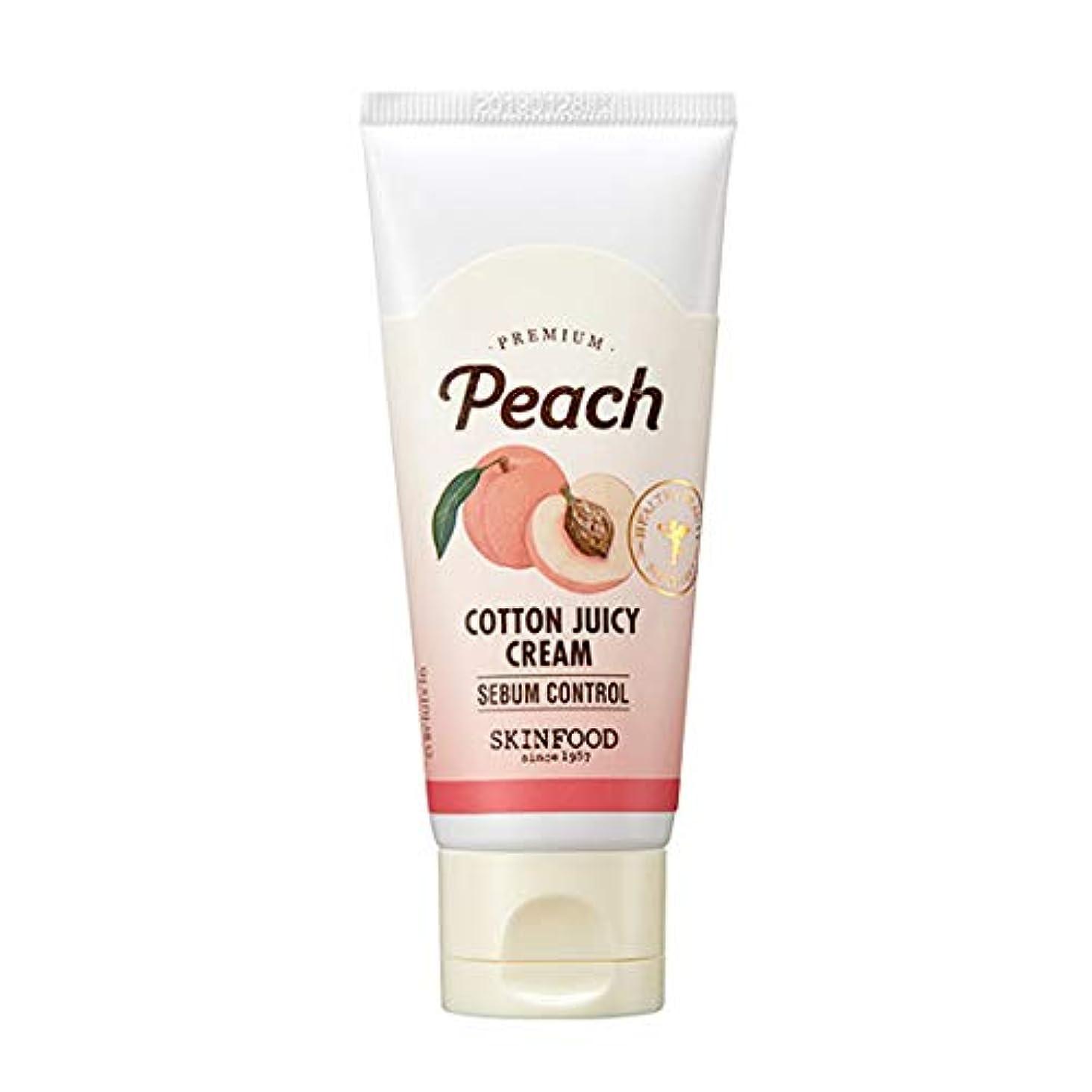 バーターアイドル平らにするSkinfood プレミアムピーチコットンジューシークリーム/Premium Peach Cotton Juicy Cream 60ml [並行輸入品]