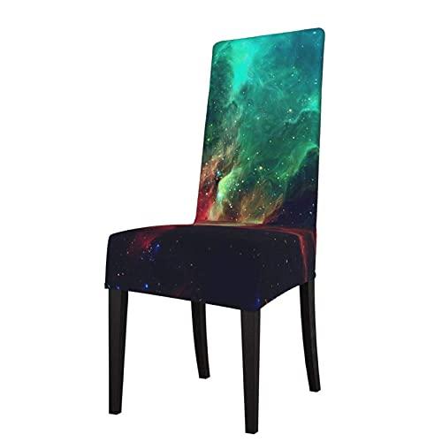 Funda de Asiento para Silla Rojo Azul y Verde Galaxy Fundas para sillas de Comedor Fundas elásticas Protector de Silla Lavable