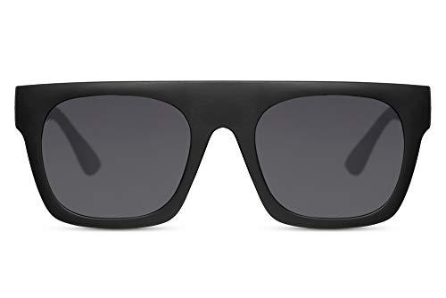 Cheapass Gafas de Sol Parte superior Mate Negras UV400 Primera Categoría Diseñador Gafas Hombres Mujeres