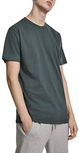 Urban Classics Herren Basic Tee T-Shirt, Grün (Bottlegreen 02245), XXXX-Large (Herstellergröße: 4XL)