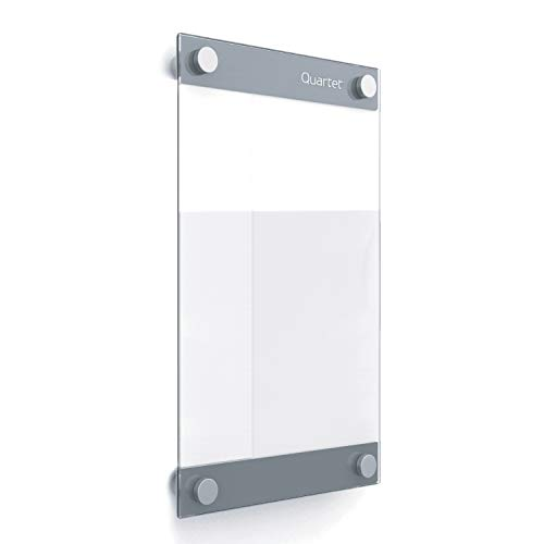 "Quartet Glass Whiteboard, Magnetic Dry Erase Board, 8-1/2"" x 11"", with Customizable Templates, White Dry Erase Surface, Infinity (GI8511)"