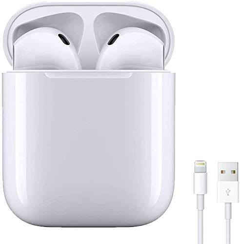 Auriculares Bluetooth 5.0 Auricular Inalámbrico Control Táctil con Graves Profundos In-Ear Auriculares Bluetooth con Caja de Carga Rápida IPX7 Impermeables,para Android/iPhone/Apple Airpods/Samsung