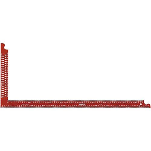 SOLA Zimmermannswinkel ZWCA mit Anreißlöcher Schienenlänge 1000 mm, rot, 56132401