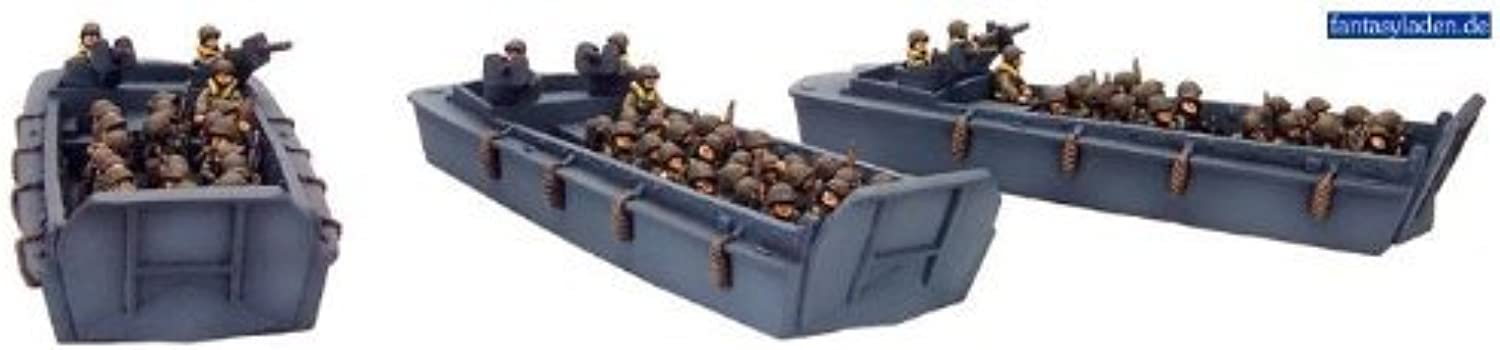 Flames Of War Usa Lcvp Boat Section (3 Landing Craft, Late War) by Battlefront