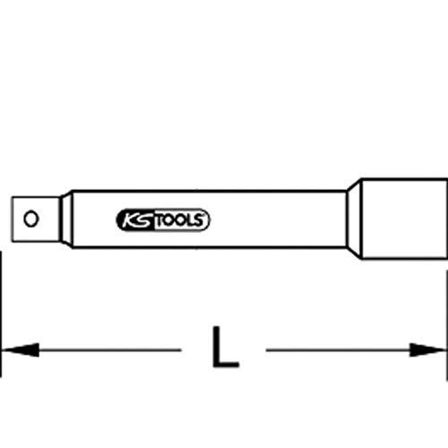 KS TOOLS 911.3803 Rallonge 3/8 - L.250 mm
