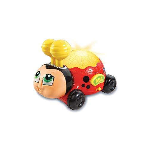 VTech-80-601622 Coccinelle colorée Interactive pour Enfant avec roulettes, Multicolore (3480-601622), Couleur/modèle Assorti
