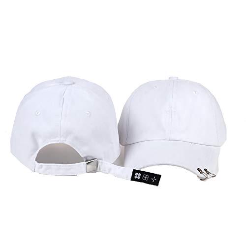 GVUSMIL Gorras de béisbol para mujer y hombre, gorra de deporte al aire libre, para viajes, senderismo, camping con decoración de anillo, algodón ajustable