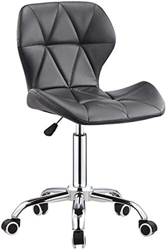 JYHS - Sgabello da bar in stile retrò, semplice da bar, sedia girevole, sedia da barbiere, sedia da bar a casa, sgabello alto, colore: grigio