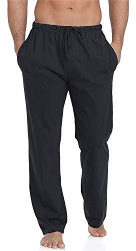 Timone Pantalones Largos de Pijamas 100% Algodón Hombre TPP-002 (Antracita, XXL)