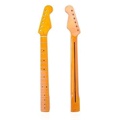 Leslaur 22 Fret ST E-Gitarre Hals Griff Ahorn Griffbrett ST Strat Stratocaste mit rückseitigem Center Pour Musikinstrument Zubehör Teile