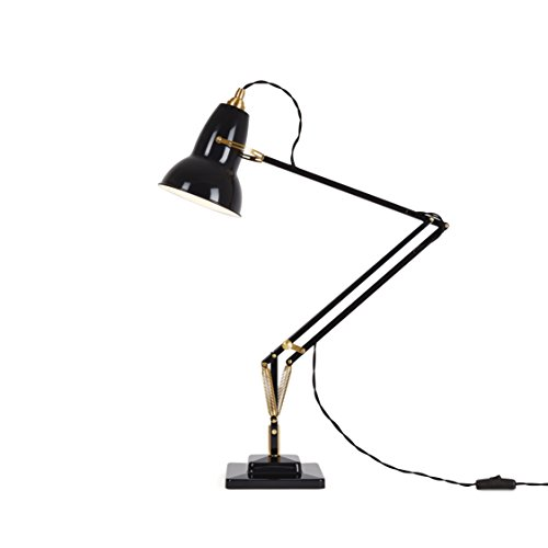 Anglepoise Original 1227 Brass Desk Lamp - Jet Black
