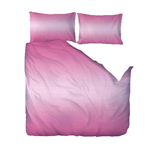 WPHRL Ropa de Cama 3D Imprimiendo Funda nórdica Gradiente de Color Rosa Conjunto de 3 Piezas Niño niña Ligero Poliéster Suave Transpirable Viernes Negro de Navidad 220x240cm
