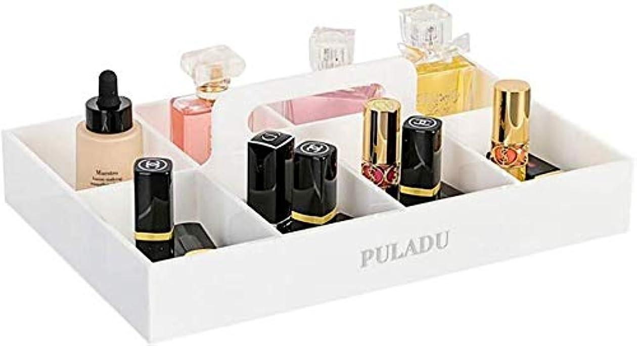 抵抗力があるゴムマネージャー化粧品オーガナイザー化粧品収納ボックススキンケア化粧ブラシ口紅収納ボックス棚(色:白)
