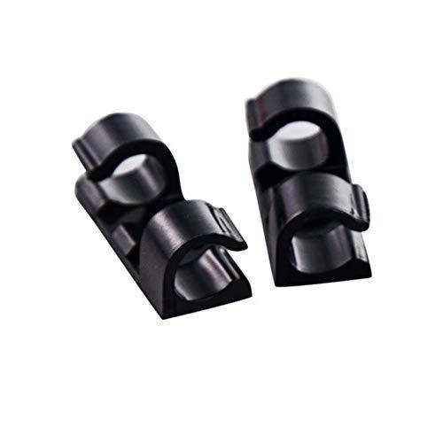 40 stuks kleefkabel clips draad clips kabel draad, draad kabel houder klemmen kabelbinder houder voor auto, kantoor en thuis