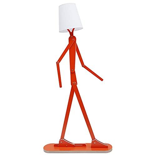 WFL-Luces de piso LED Lámpara de pie ajustable Brazo Dormitorio Lámpara de Lectura de Mesilla de Dormitorio Moderno Estudio Decoración del Hogar Luz Vertical Luz de Lectura LED (Color: Rojo)
