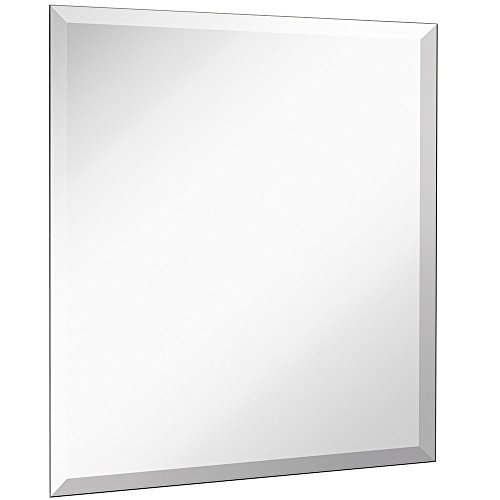 """Hamilton Hills Large Simple Square Mirror with 1 Inch Bevel 