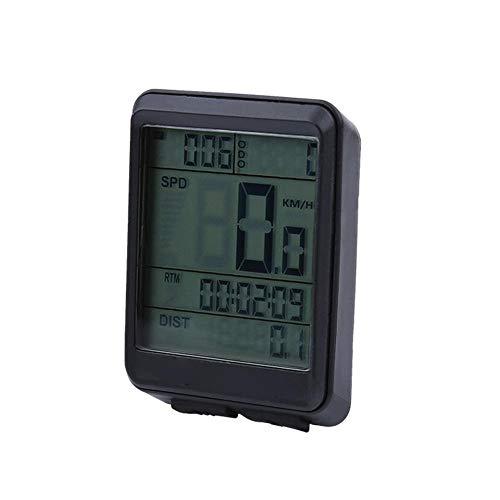 SolUptanisu Cuentakilómetros LCD para Bicicleta, Computadora Portátil para Ciclismo Medidor de Velocidad...