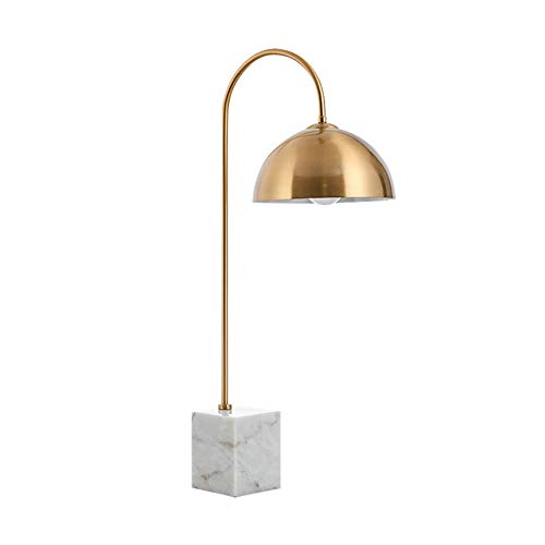 AQUYY tafellamp, slaapkamer bedlamp, rustiek licht hotel, kantoor, woonkamer, salontafel, marmer tafellamp (met lamp)