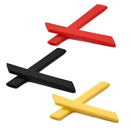 SOODASE Rot/Schwarz/Gelb Ersatz Silikon Rahmenbein Gummi-Kit Für Oakley Jawbone Sonnenbrille