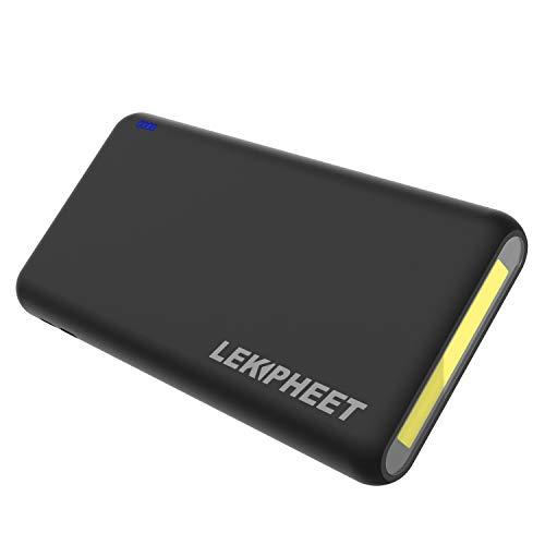 LEKPHEET 4USB Powerbank 30000mAh,LED Taschenlampe Externer Akku Mobiles Portable Ladegerät Die kann Nicht nur Ihr Handy Aufladen sondern sie ist auch kompatibel mit Spielkonsole DV(30000mAh/Schwarz)