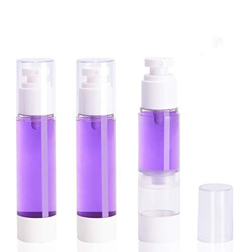 3-pak Airless próżniowa butelka z rozpylaczem do twarzy, 50 ml / 1,7 uncji bardzo drobna mgiełka rozpylacz do wody atomizer aerozol, do wielokrotnego napełniania kosmetyki do makijażu organizer na przybory toaletowe pojemniki podróżne do balsamu tone